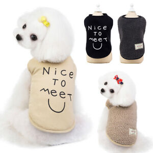 Fashion Pet Dog Winter Clothes Warm Fleece Small Puppy Cat Jacket Vest Chihuahua