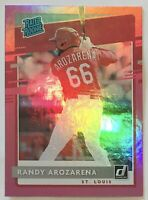 Randy Arozarena Rookie SP 🔥 Donruss Pink Foil Parallel RC 🔥 Cardinals Rays