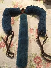 WESTERN HORSE BREAST COLLAR LEATHER AND WASHABLE FLEECE,USED