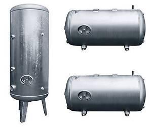 Heider Druckkessel Druckbehälter, 100 - 1000 l, steh. o. liegend, verzinkt,6 bar
