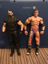WWE Mattel Elite Zack Ryder & Basic Seth Rollins 6 Inch Figure Lot Bundle