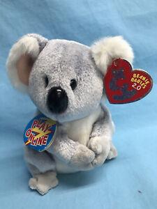 TY Beanie Baby 2.0 AUSSIE Koala Bear Plush Stuffed Animal Toy 2008~ NEW