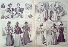 LA MODE ILLUSTREE-1896-38-avec PATRONS-VOIR MODELES DETAILLES