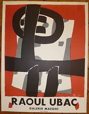 Raoul Ubac Affiche en lithographie art abstrait abstraction Mourlot Imp