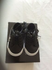 CREATIVE RECREATION Black Suede & Patent Leather KAPLAN Trainers Infant Size 3