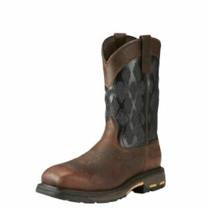 Ariat Mens WorkHog Venttek Composite Toe Work Safety Western Boots 10023061