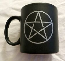 PENTACLE COFFEE TEA CUP CERAMIC MUG PAGAN WICCA KITCHEN WITCH GODDESS PENTAGRAM