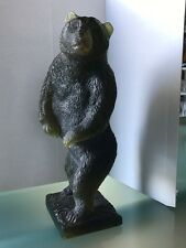 Daum Crystal Green Grizzly Bear Rare