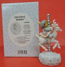 2005 Cherished Teddies Bear/Reindeer Carousel Avon Exclusive Figurine 118760