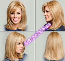2017 NEW sexy Ladies fashion Straight mixed Blonde Natural Hair Women's Wigs