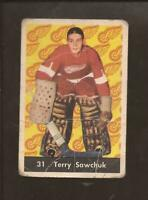 1961-62  PARKHURST  # 31  TERRY SAWCHUK    HOF   Detroit Red WIngs   Fair-Good