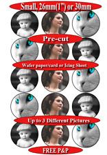 """15 PRE-CUT 'Small' - 26mm/1"""" or 3cm Personalised  picture edible cupcake toppers"""