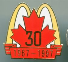 McDONALD'S RESTAURANTS CANADA 1967-1997 30 years PIN PINBACK ÉPINGLETTE