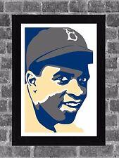 Brooklyn Dodgers Jackie Robinson Portrait Sports Print Art 11x17