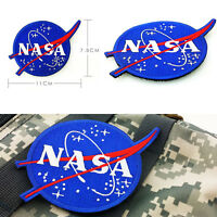 NASA Space Center Astronaut Program Vector Embroidery Patch Badge Emblem Blue
