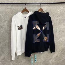 Off-White Hoodie Loose Pullover Religious arrow print fashion Sweatshirt Hoodies
