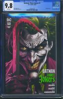 Batman Three Jokers 1 (DC) CGC 9.8 White Pages Geoff Johns story Jason Fabok art