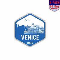 Venice Italy Oval Bumper Sticker or Helmet Sticker D2915 Euro Oval