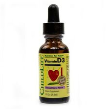 ChildLife Vitamin D3 Natural Berry Flavor 1 fl oz Made in USA