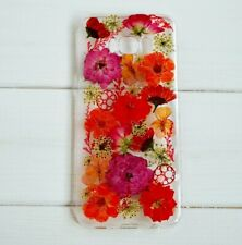 phone cases real flower Samsung S7 S8 S9 S10 iphone 7 X XS XSMAX XR cover floral