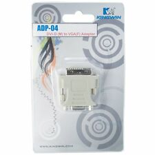 Kingwin ADP-04A DVI-D Male (24 + 1) to VGA HD 15 Female Adapter - NEW