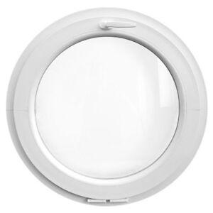 Finestra rotonda oblò a vasistas in PVC bianco varie misure