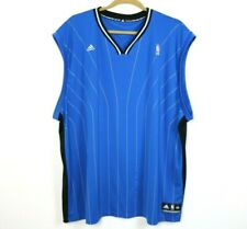 Adidas Mens Shirt Sleeveless Orlando Magic V Neck Embroidered Blue Size 5XL