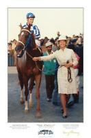 SECRETARIAT VOX POPULI PRINT POSTER HORSE RACING PENNY CHENERY SIGNED RARE MINT