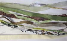 12 x 90cm Ribbons In Earth Tones Colors for Scrapbooking, Card Making, Craft