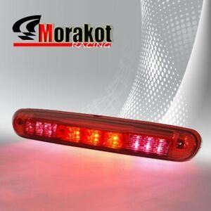 07-13 GMC Sierra Chevy Silverado 3rd Third Brake Light LED Stop Rear Roof Red