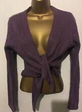 White Stuff Cardigan Lilac/purple wool mohair alpaca Wrap/Shrug/Cardigan Size 14