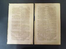 2 Leaves from the Hot Press Bible printed in America - 1798