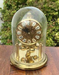Vintage Kundo Kieninger & Obergfell West Germany Glass Dome Anniversary Clock