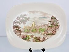 "J G Meakin Romantic England Windsor Castle 13"" Platter Serving Dish Multicolour"