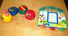 Baby Einstein Caterpillar Bathtub Magnetic Bath Toy 4 Sections Plus Photo Album