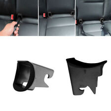 1 Pair Black Car Baby Seat ISOFIX Latch Belt Connector Guide Groove ABS Plastic