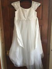 Vestido de fiesta Pretty Monsoon Chicas novia/, con detalle de encaje. age11 146cm blanco apagado.