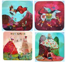 Izou*Postkarte*Jap.Motive*Teetrinken*Pegasus*Happy Birthday*Frau schwebt*14x14cm