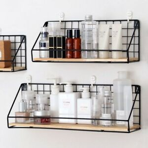 Wall-mounted Metal Racks Without Perforation Wall Decoration Office Storage Tool