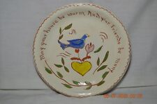 Signed Cutler Folk Art May Your House Be Warm And Your Friends by Many Plate