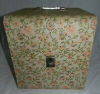 Vintage Mid Century Modern Floral pattern Wig or Hat travel Box