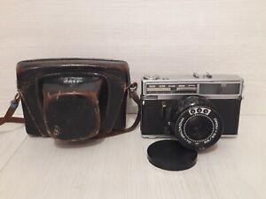 Soviet vintage camera Falcon Lomo. Lens Objective - Industar 70. Made in USSR