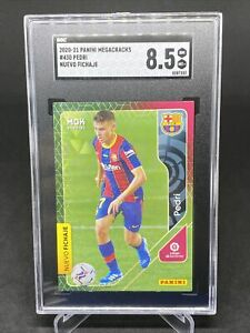 2020-21 Panini Megacracks #430 Pedri FC Barcelona RC Rookie SGC 8.5 NM-Mint+