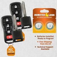 2 for 2005 2006 Nissan Altima Keyless Entry Remote Fob Car Key