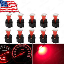 10x Red T5 73 74 Instrument Panel Dashboard Led Interior Light Bulb+Twist Socket