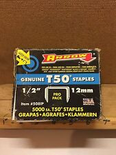 "Arrow Fastener Co 1/2""/12mm Tacker Stapler 1250 approx Staples Fits T50"