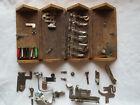 Antique 1889 Singer Sewing Machine Oak Attachment Puzzle Box with Attachments