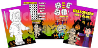 Pack of 12 - Halloween Fun and Games Activity Sheets - Party Bag Books Fillers