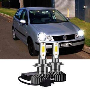 Für VW Polo 6N2 6R 6C - 2X H7 LED Auto Scheinwerfer Birnen kit ABBLENDLICHT