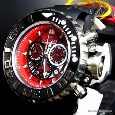 Invicta Sea Hunter III Red 70mm Full Rubber Swiss Made Chronograph Watch New